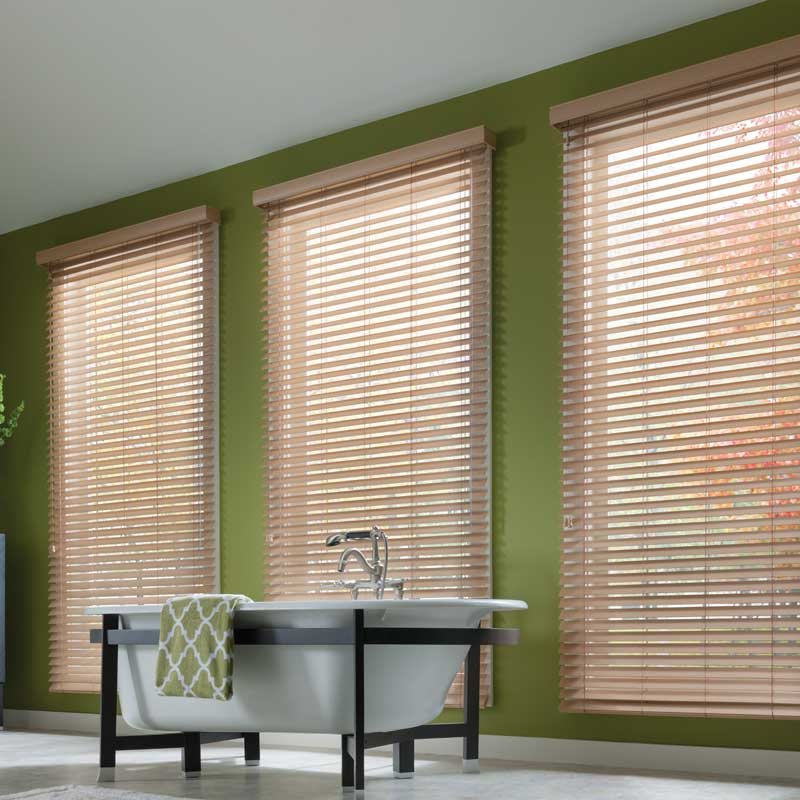 Wooden and Faux Wood Blinds